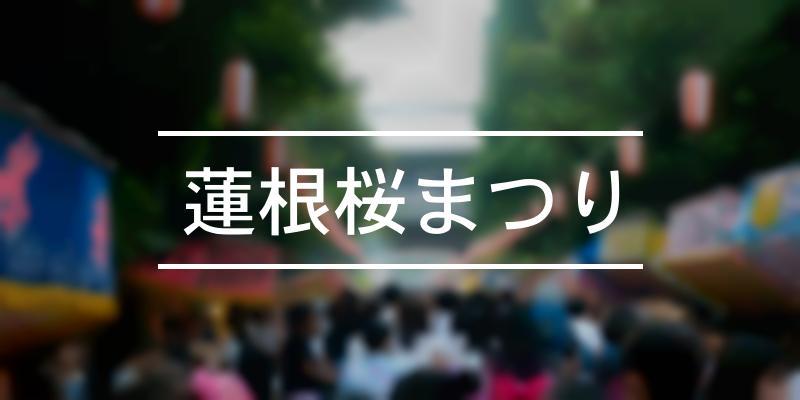 蓮根桜まつり 2019年 [祭の日]