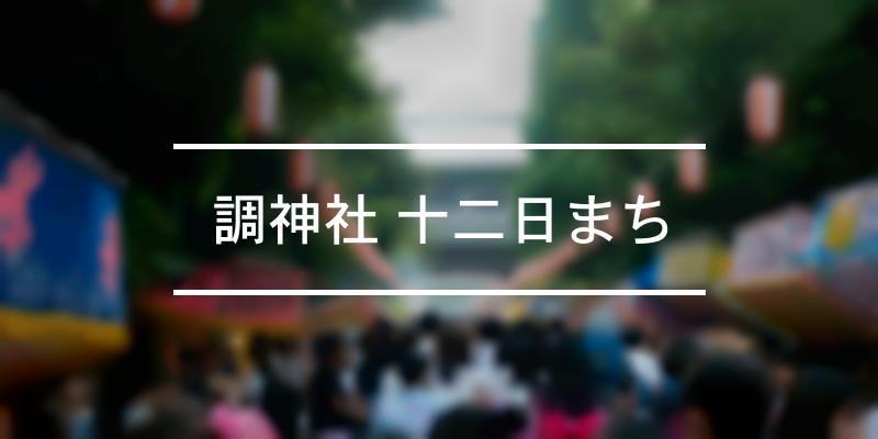 調神社 十二日まち 2019年 [祭の日]