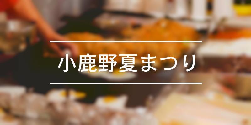 小鹿野夏まつり 2020年 [祭の日]