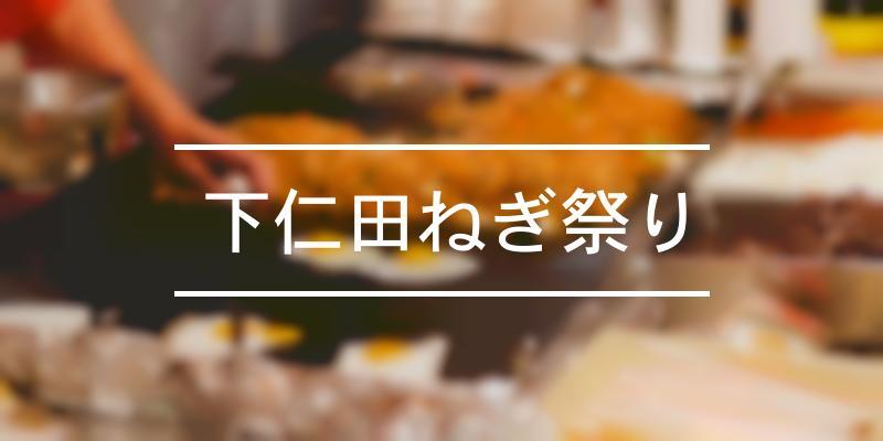 下仁田ねぎ祭り 2019年 [祭の日]