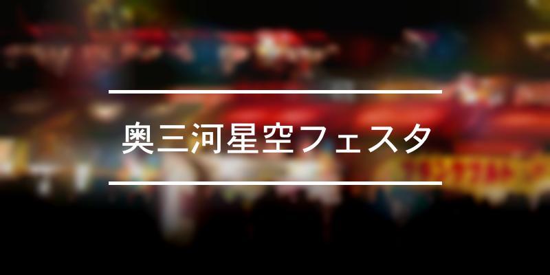 奥三河星空フェスタ 2019年 [祭の日]