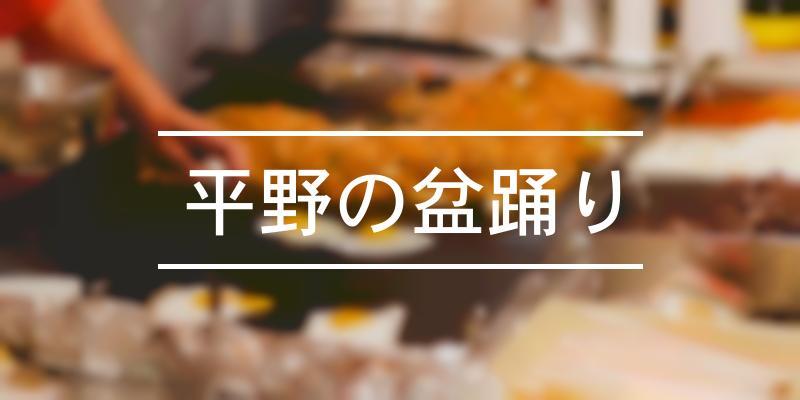 平野の盆踊り 2019年 [祭の日]