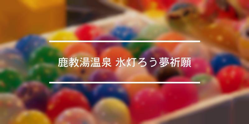 鹿教湯温泉 氷灯ろう夢祈願 2019年 [祭の日]