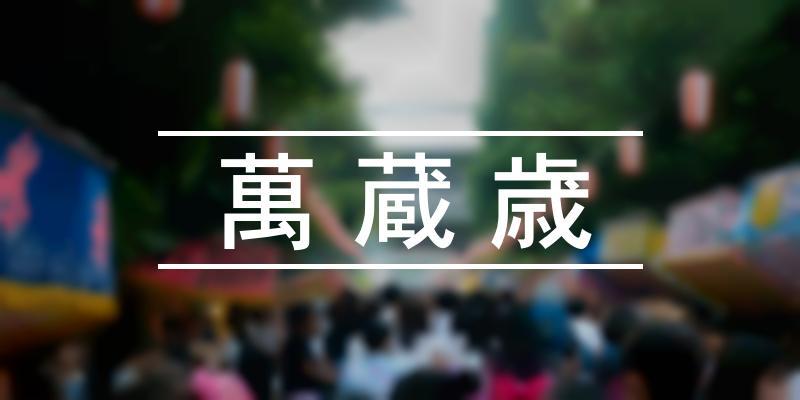 萬蔵歳 2020年 [祭の日]