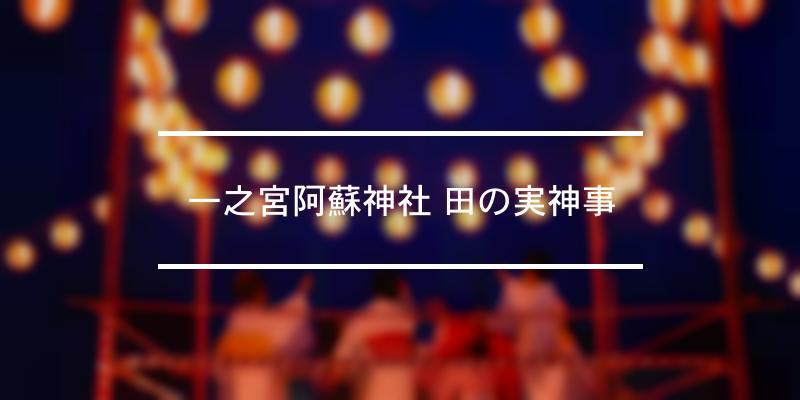 一之宮阿蘇神社 田の実神事 2019年 [祭の日]