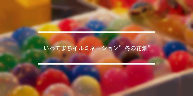 """いわてまちイルミネーション""""冬の花畑"""" 2021年 [祭の日]"""