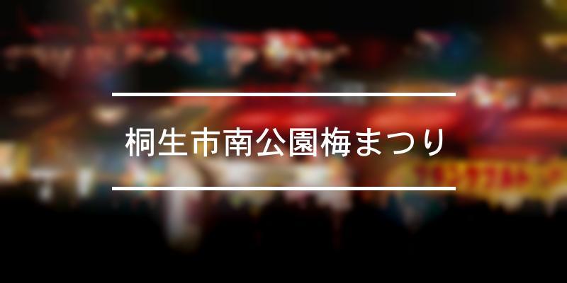 桐生市南公園梅まつり 2020年 [祭の日]
