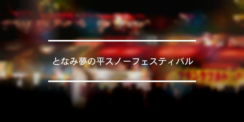 となみ夢の平スノーフェスティバル 2020年 [祭の日]