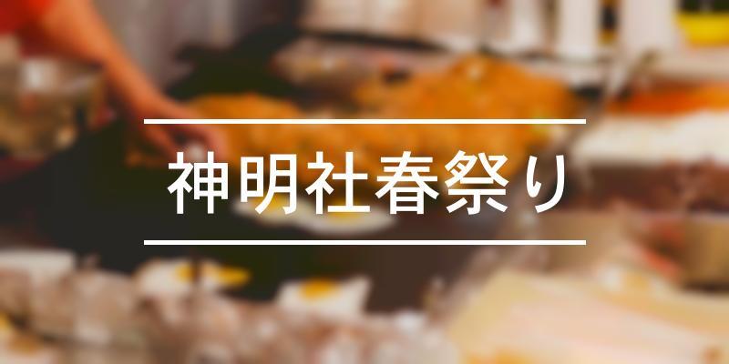 神明社春祭り 2020年 [祭の日]