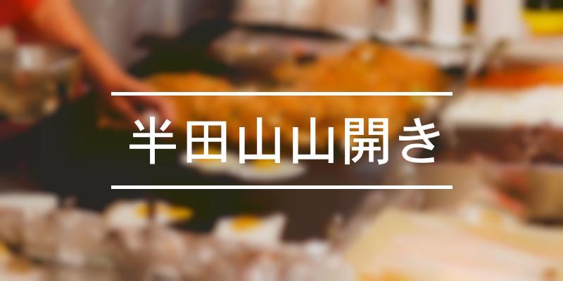 半田山山開き 2021年 [祭の日]