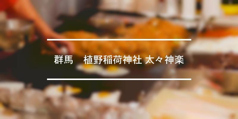群馬植野稲荷神社 太々神楽 2020年 [祭の日]