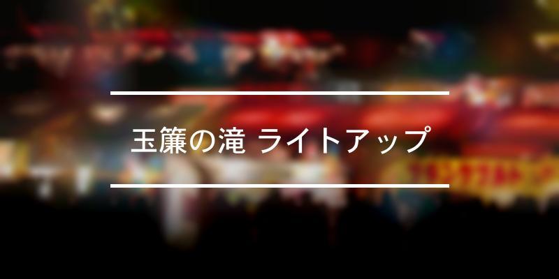 玉簾の滝 ライトアップ 2020年 [祭の日]