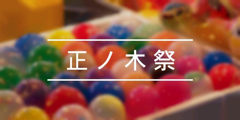 正ノ木祭 2021年 [祭の日]