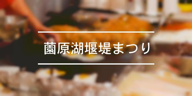薗原湖堰堤まつり 2020年 [祭の日]