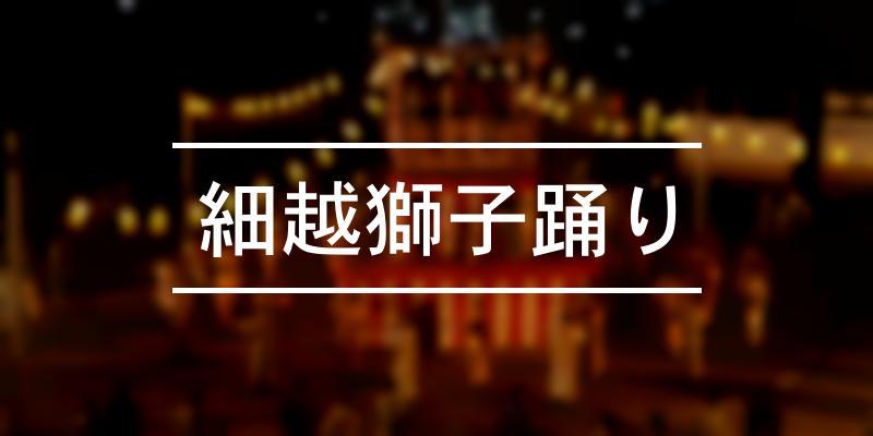 細越獅子踊り 2020年 [祭の日]