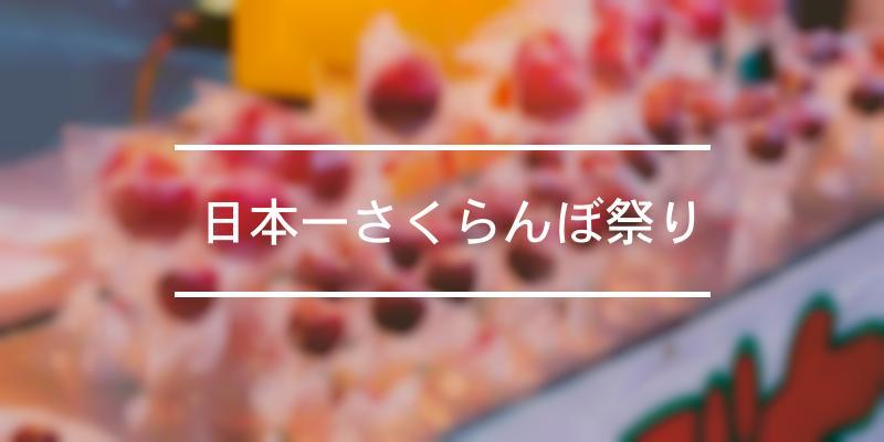 日本一さくらんぼ祭り 2020年 [祭の日]