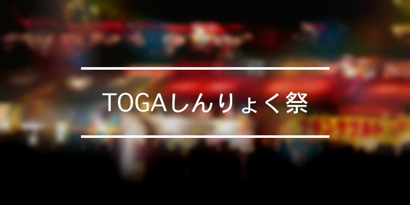 TOGAしんりょく祭 2021年 [祭の日]