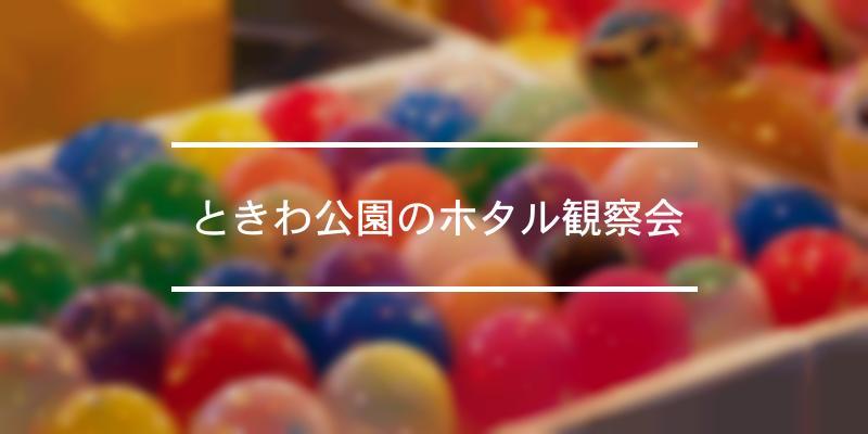 ときわ公園のホタル観察会 2020年 [祭の日]