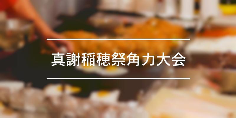 真謝稲穂祭角力大会 2021年 [祭の日]
