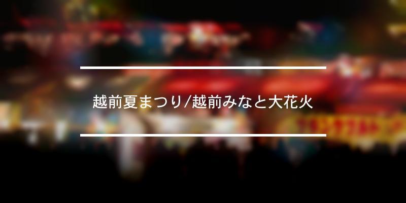 越前夏まつり/越前みなと大花火 2021年 [祭の日]