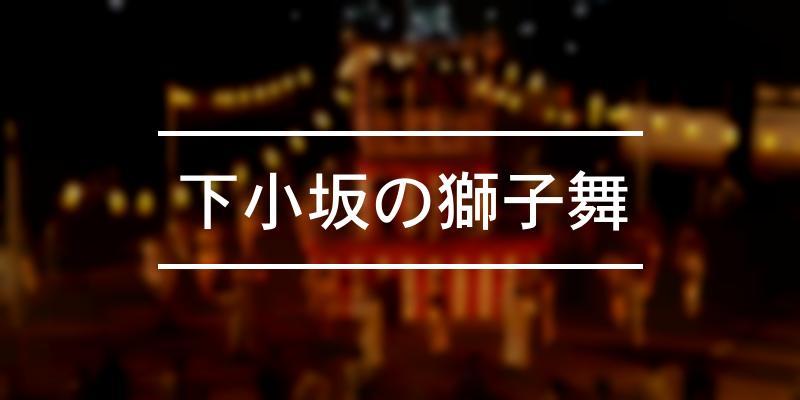 下小坂の獅子舞 2020年 [祭の日]