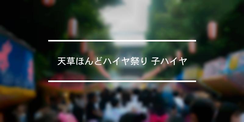 天草ほんどハイヤ祭り 子ハイヤ 2020年 [祭の日]