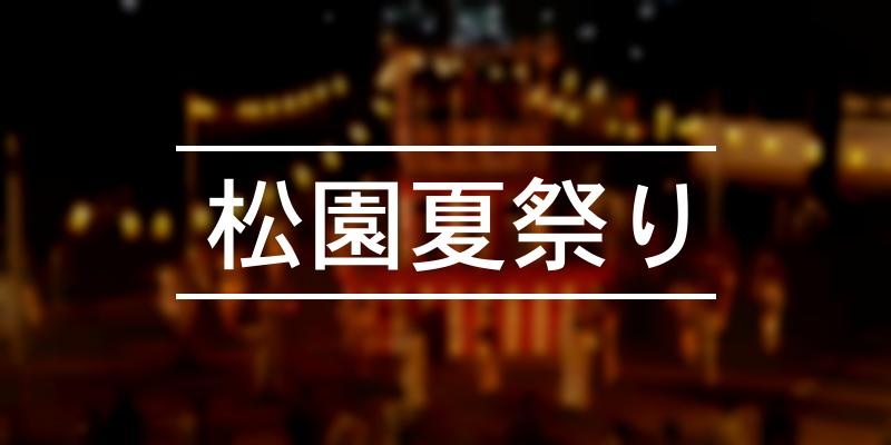 松園夏祭り 2020年 [祭の日]