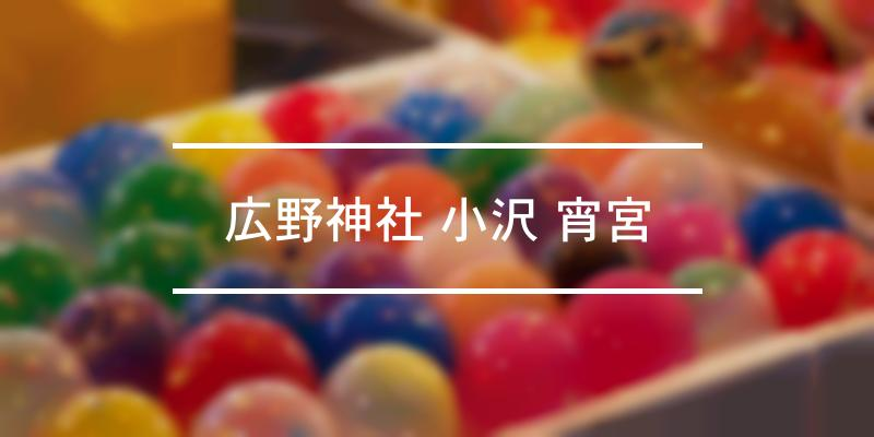 広野神社 小沢 宵宮 2021年 [祭の日]