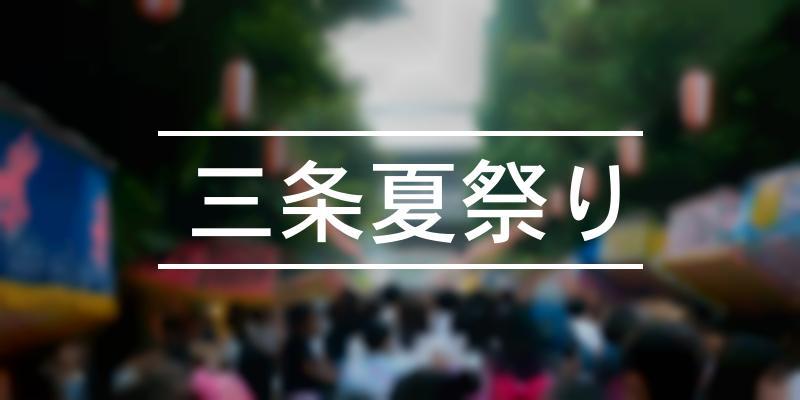 三条夏祭り 2021年 [祭の日]