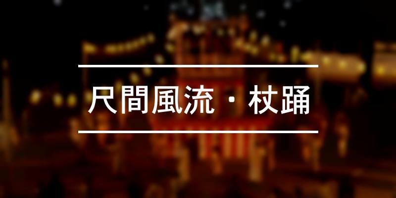 尺間風流・杖踊 2021年 [祭の日]