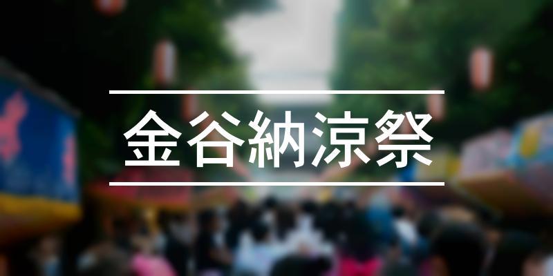 金谷納涼祭 2020年 [祭の日]