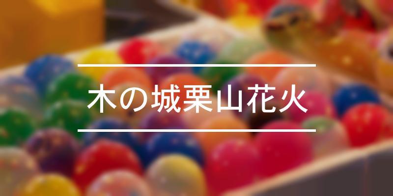 木の城栗山花火 2021年 [祭の日]