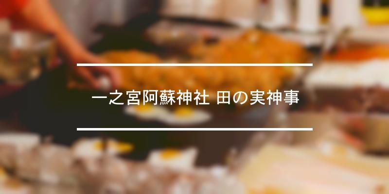 一之宮阿蘇神社 田の実神事 2020年 [祭の日]