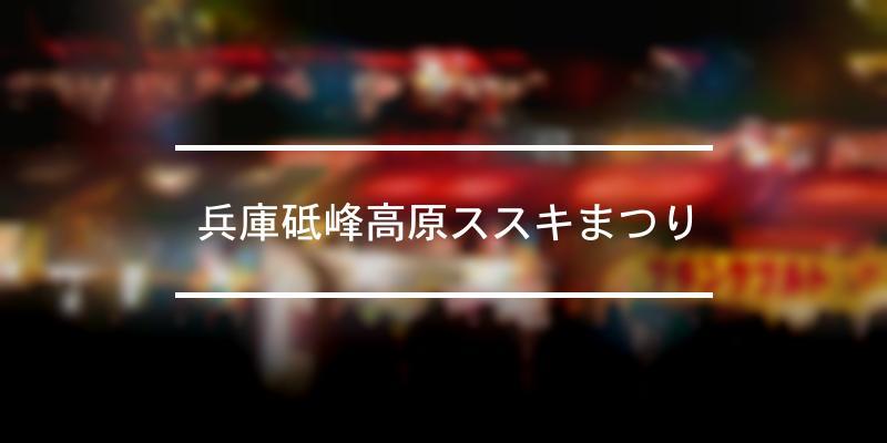 兵庫砥峰高原ススキまつり 2020年 [祭の日]