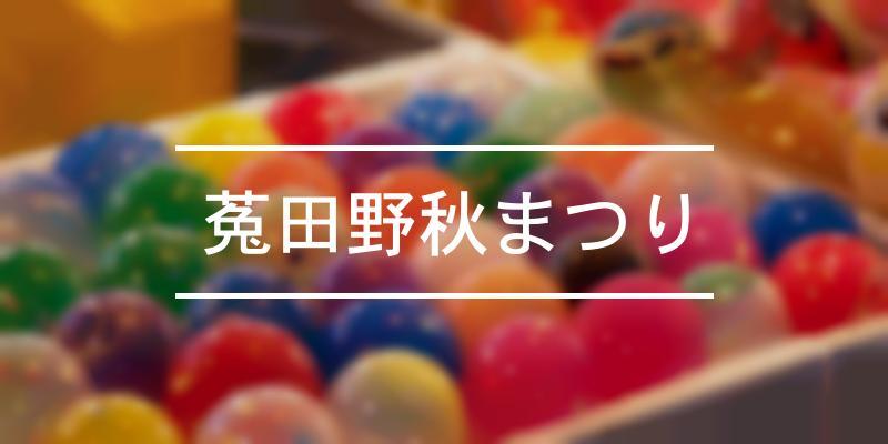 菟田野秋まつり 2021年 [祭の日]
