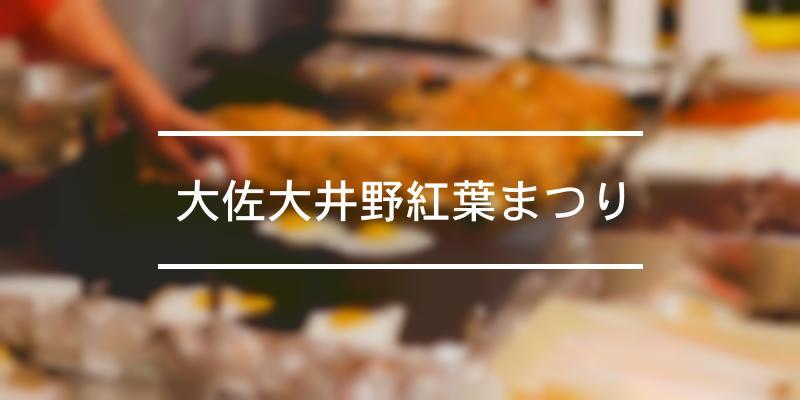 大佐大井野紅葉まつり 2021年 [祭の日]
