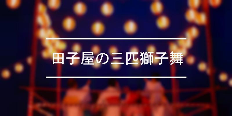 田子屋の三匹獅子舞 2021年 [祭の日]