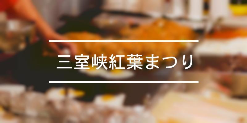 三室峡紅葉まつり 2021年 [祭の日]