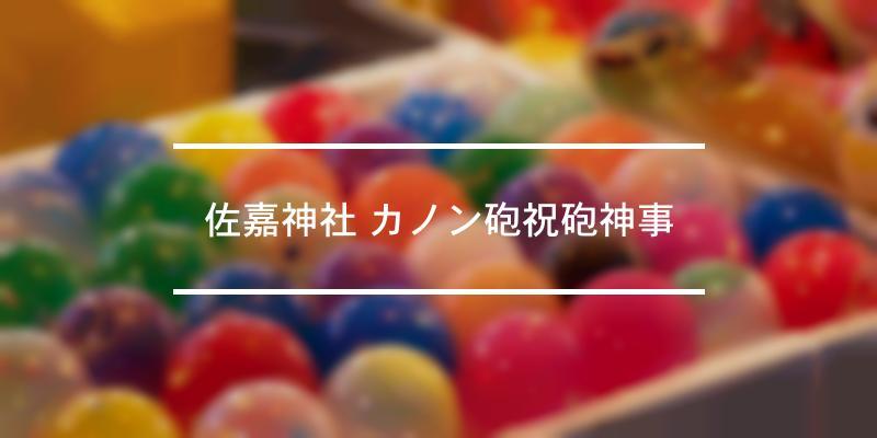 佐嘉神社 カノン砲祝砲神事 2020年 [祭の日]