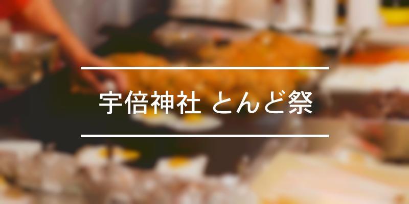 宇倍神社 とんど祭 2021年 [祭の日]
