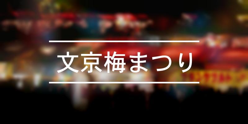 文京梅まつり 2021年 [祭の日]
