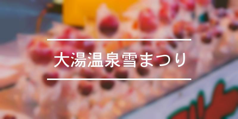 大湯温泉雪まつり 2021年 [祭の日]