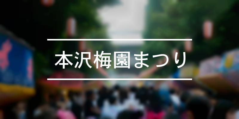 本沢梅園まつり 2021年 [祭の日]