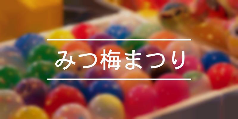 みつ梅まつり 2021年 [祭の日]