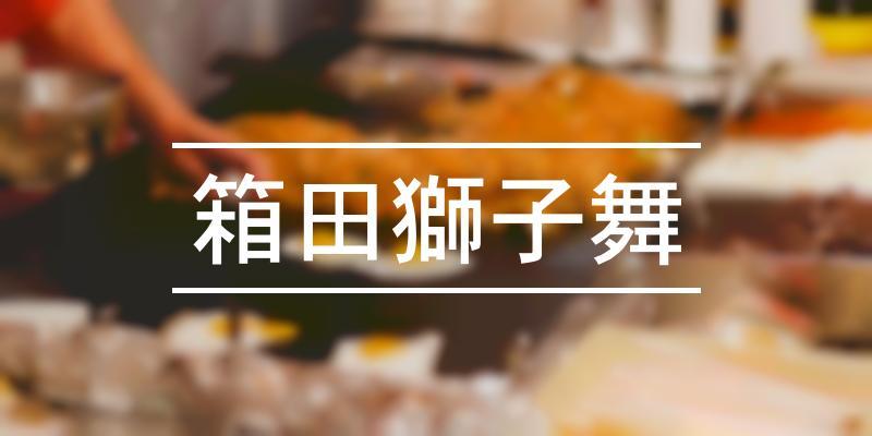 箱田獅子舞 2021年 [祭の日]
