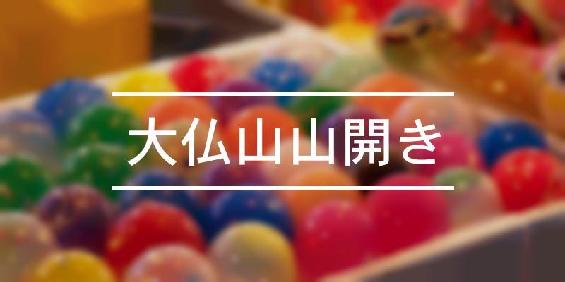 大仏山山開き 2021年 [祭の日]