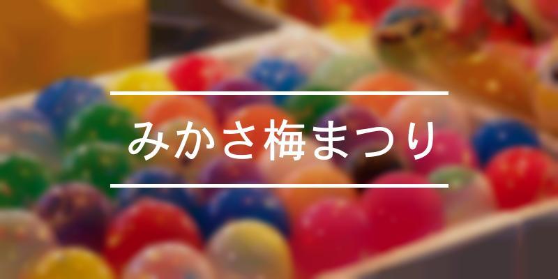 みかさ梅まつり 2021年 [祭の日]