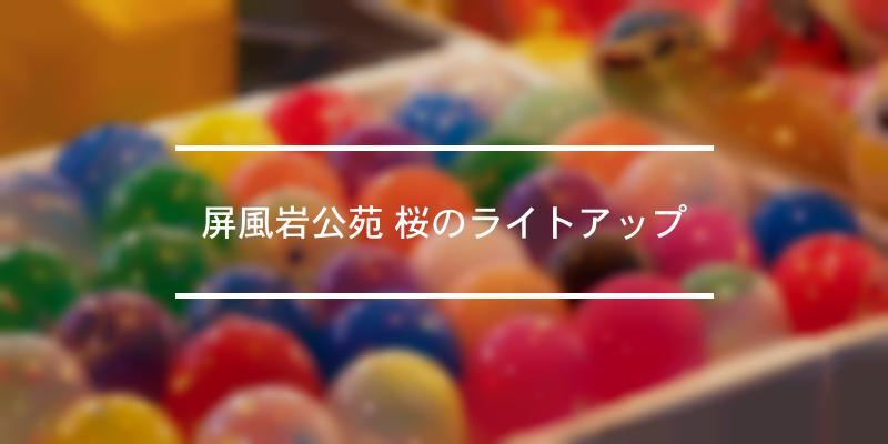 屏風岩公苑 桜のライトアップ 2021年 [祭の日]