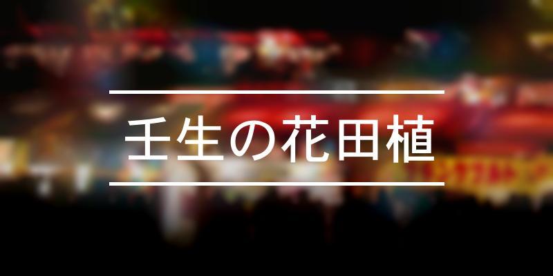 壬生の花田植 2021年 [祭の日]