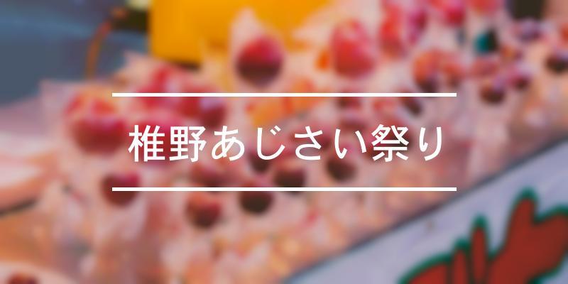 椎野あじさい祭り 2021年 [祭の日]